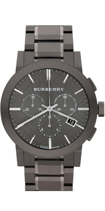 Burberry Large Chronograph Bracelet Watch, 42mm Gunmetal