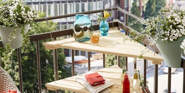 DIY Κρεμαστό Γωνιακό Τραπέζι για μικρά Μπαλκόνια