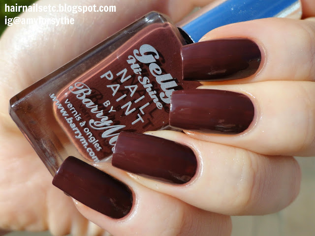 Barry M Gelly Nail Paint for Autumn Winter 2014 in Cocoa - swatches and review