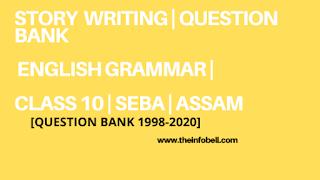 Important Story writing For Class 10 Seba   English Grammar   HSLC   ASSAM