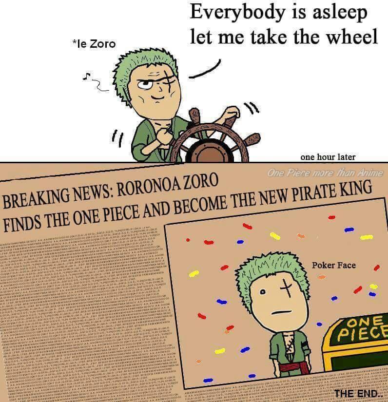 One Piece Trivia Kumpulan Meme Roronoa Zoro Tersesat Nyasar