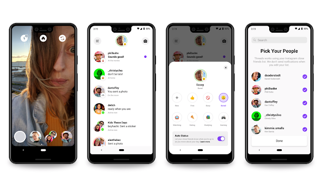 Introducing Threads a close friend chat app by Facebook