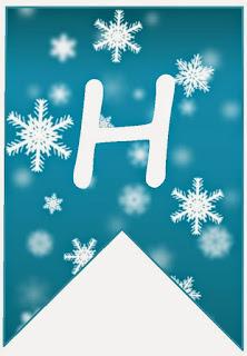 Banderines para Cumpleaños de Frozen. Frozen Birthday Banners.