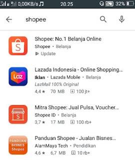 belanja online shope - installs shopee