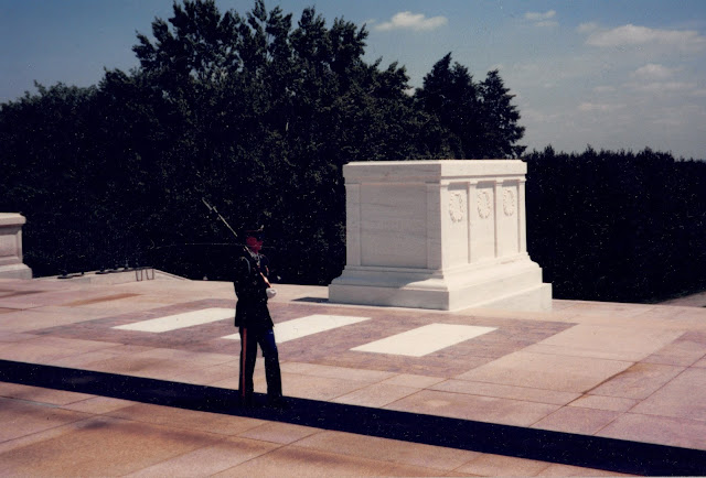 Tomb of the Unknown Soldier in Arlington Cemetery