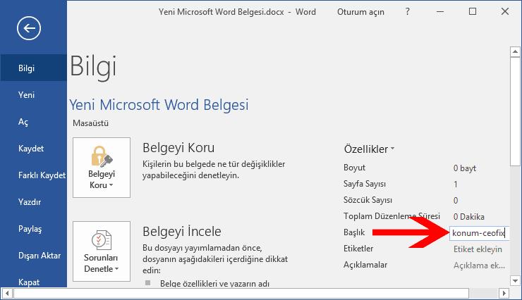Word belgesinde etiketleme nasıl yapılır?-www.ceofix.com
