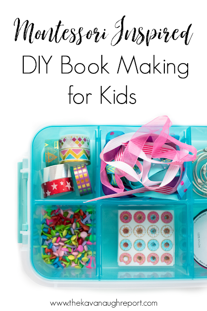 A simple Montessori inspired book making craft kit for kids.