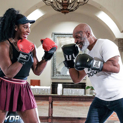 Photos and videos of Serena Williams and Mike Tyson training together..