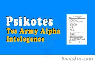 contoh soal tes army alpha psikotes