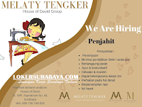 We Are Hiring at Melaty Tengker House of David Group Surabaya Desember 2019