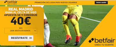 betfair supercuota liga Real Madrid gana Celta 16 febrero 2020