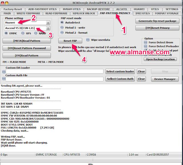 remove frp Huawei Y5II CUN- L21