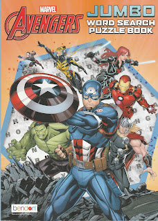 Front cover of Avengers Jumbo Word Search Puzzle Book