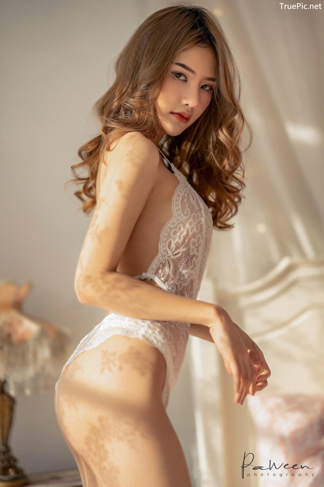 Image Thailand Model - Atittaya Chaiyasing - White Lace Lingerie - TruePic.net - Picture-9
