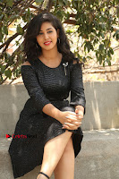 Telugu Actress Pavani Latest Pos in Black Short Dress at Smile Pictures Production No 1 Movie Opening  0054.JPG