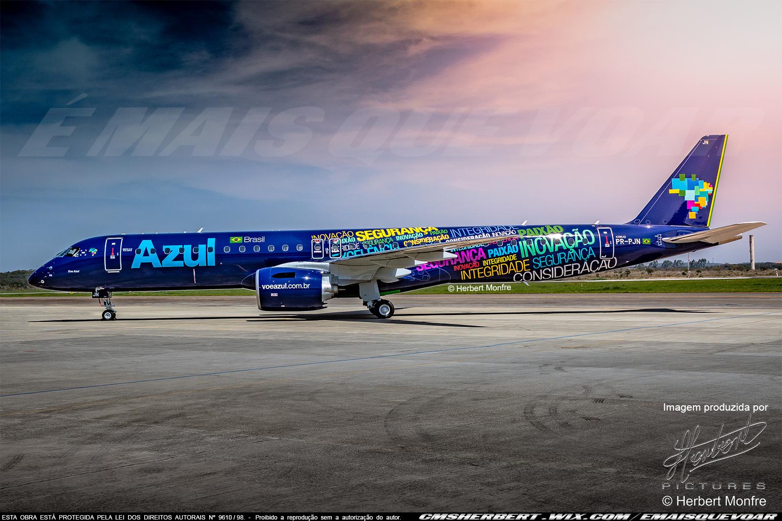 Embraer E195-E2 | PR-PJN | Azul Linhas Aéreas | Fotógrafo © Herbert Monfre - Contrate o fotógrafo em cmsherbert@hotmail.com | Publicado por É MAIS QUE VOAR