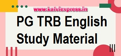 PG -TRB  English Study Material