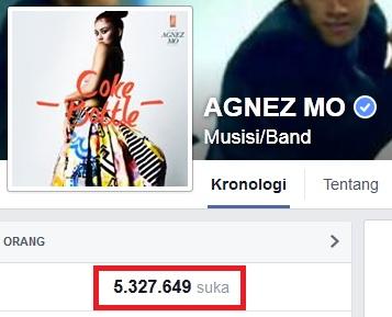 contoh facebook fanpage dengan jutaan like