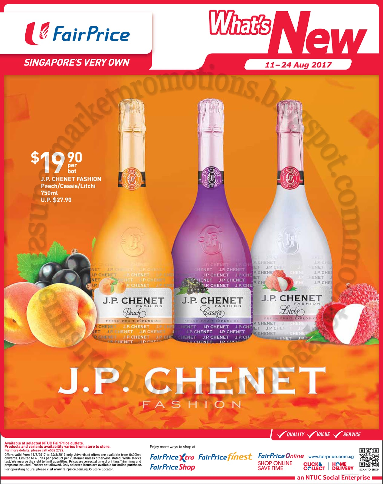 Ntuc Fairprice J P Chenet Promotion 11 24 August 2017