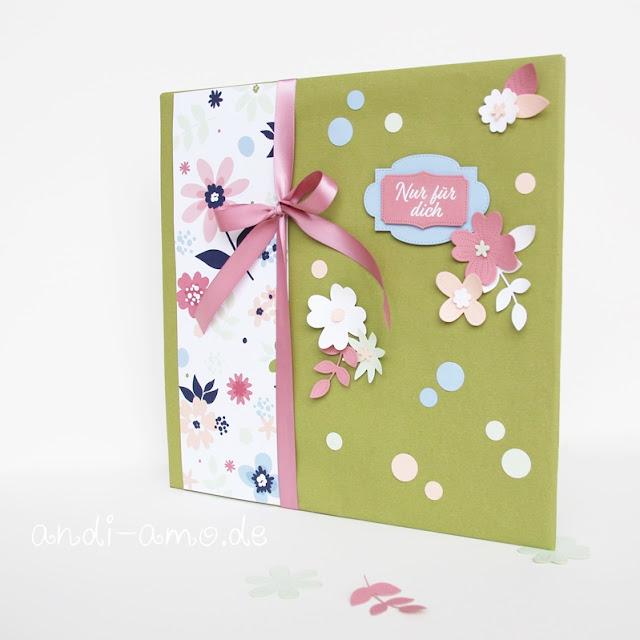 Stampin Up Perforierte Blumen Papierblüten Geschenk