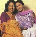 Juhi Chawla with her mother