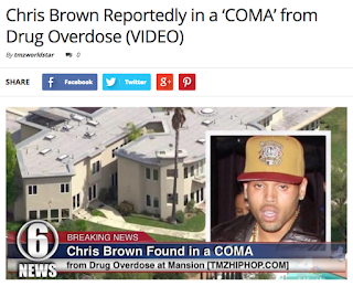 Is Chris Brown In A Coma?