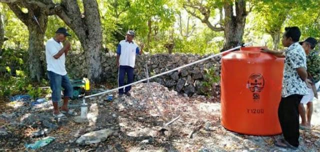 Sumur Bor Jadi Pilihan Pemerintah Desa Menara Indah, Untuk Penuhi Kebutuhan Warganya