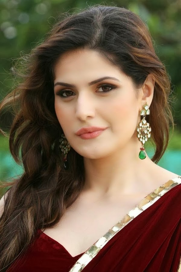 zarine-khan-in-maroon-saree-1