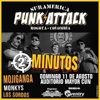 Concierto de 2 MINUTOS en Bogotá | Festival PUNK ATTACK
