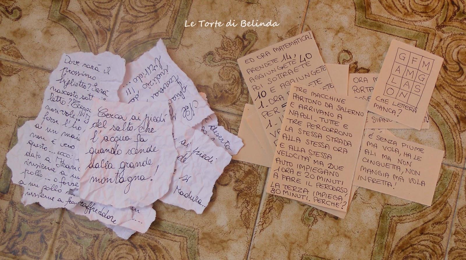 Famoso Le Torte di Belindama non solo!: LA CACCIA AL TESORO: I  SX69