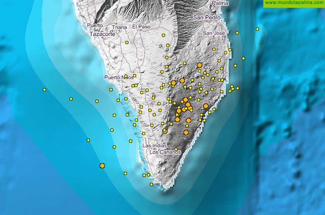 Nueve movimientos sísmicos más hoy domingo en La Palma