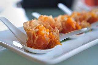 Palabok Bites, pancit palabok in wonton
