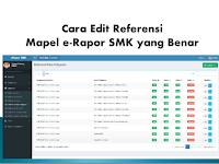 Cara Edit Referensi Mapel e-Rapor SMK yang Benar