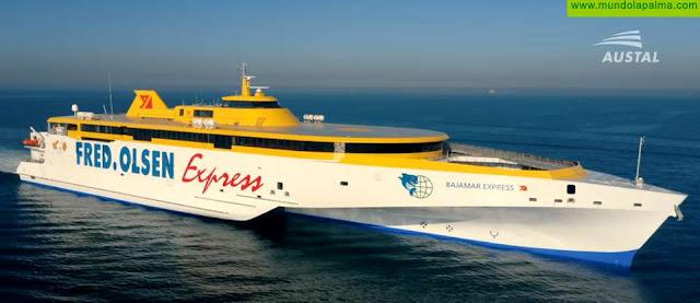 Fred. Olsen Express recibe en Perth su nuevo trimarán