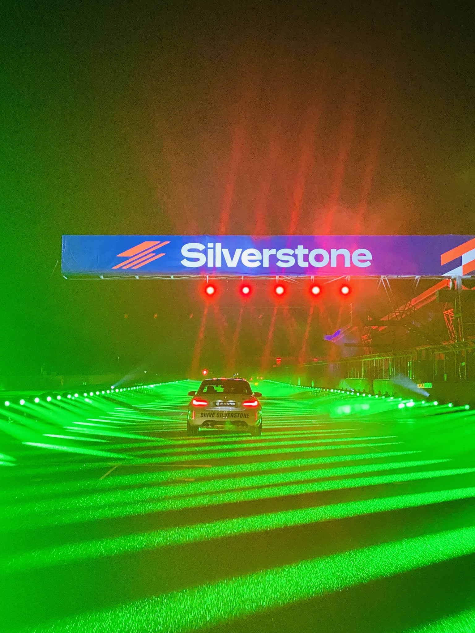 Lap Land Silverstone review pacer car and lasers lights