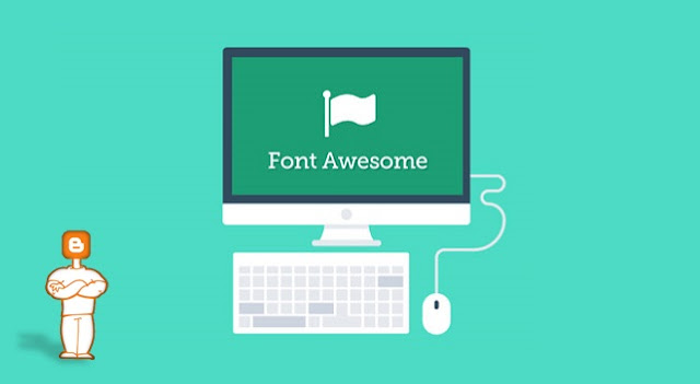 Blogger Font Awesome Icons