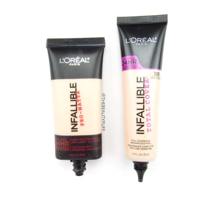 l'oreal infallible pro-matte vs total cover - the beauty puff