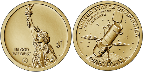 USA 1 dollar 2020 - Hubble Space Telescope (Maryland)