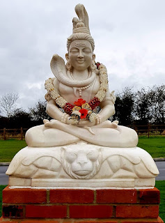 Lord Shiva statue at Great Glen  Crematorium