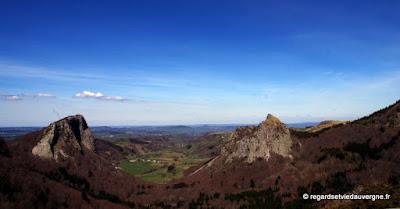 Les roches Tuilière et Sanadoire.