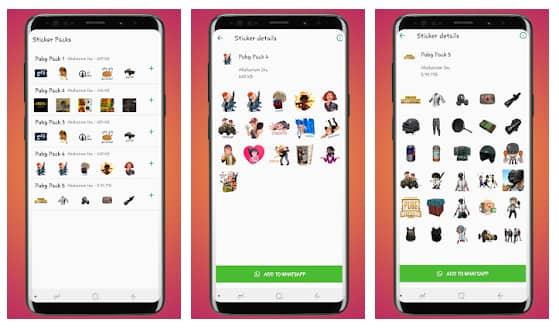 sticker pack app for pubg mobile
