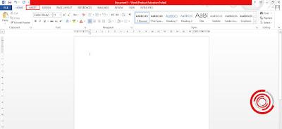 Silakan kalian buka aplikasi MS Word lalu pilih menu Insert