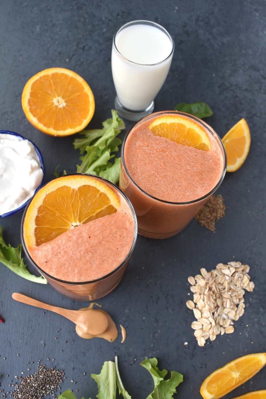 orange protein smoothies
