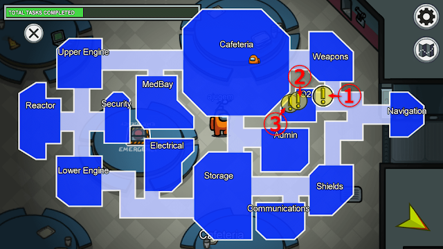 O2(酸素ルーム)のタスクマップ説明画像