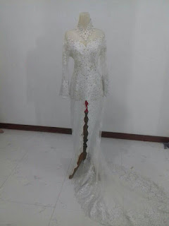 kebaya pengantin modern akad