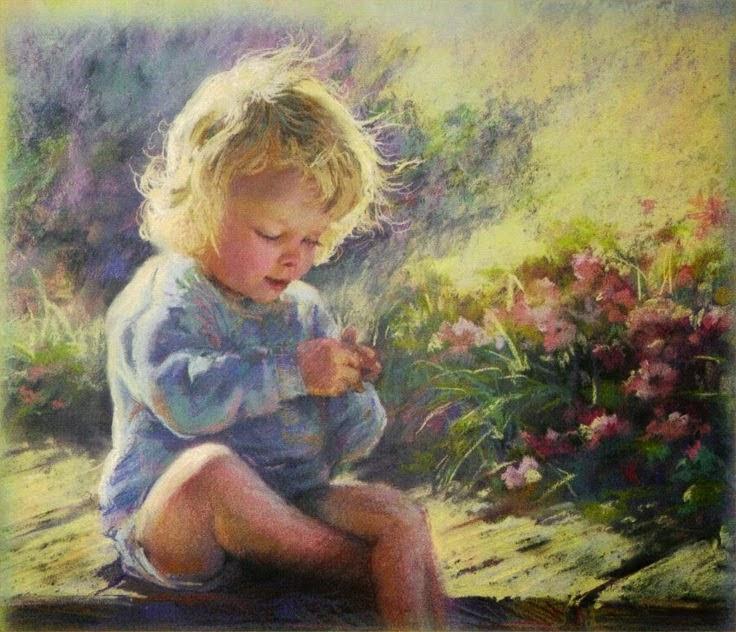 Preciosas Imágenes de Niño Rubio en el Jardín  liru