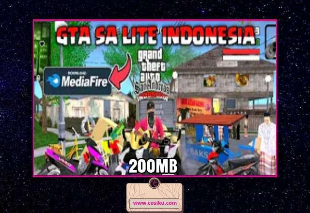 Hanya 200MB!! GTA SA Lite Indonesia New APK+DATA
