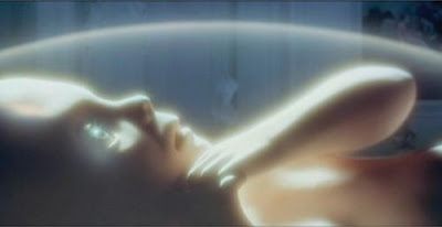 The Star Child, witnessed by an aging Dr. Bowman, 2001: A space Odyssey (1968), Directed by Stanley Kubrick