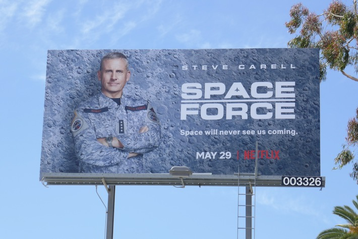 Space Force Netflix billboard
