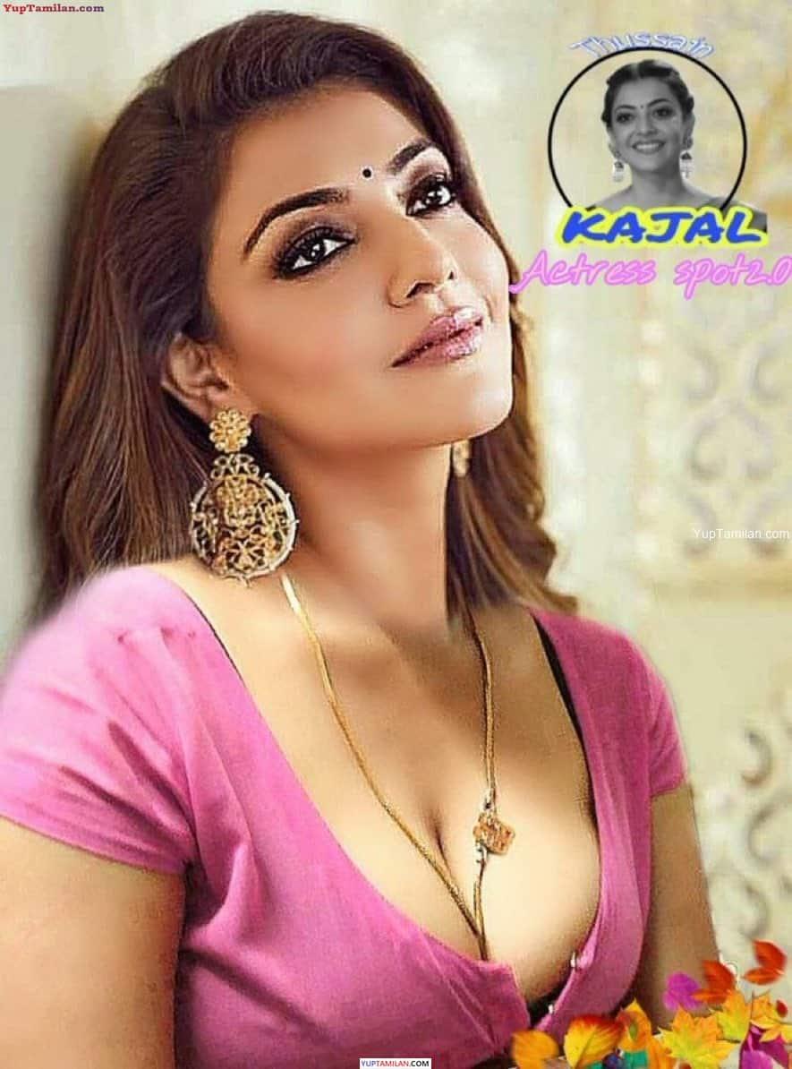 Actress Kajal Agarwal Deep Cleavage Photos